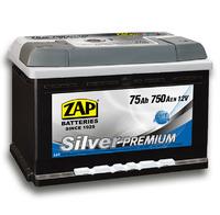 Автомобильный аккумулятор ZAP Silver Premium (75A/ч)/3579 ZAP