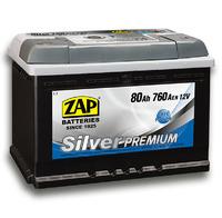 Автомобильный аккумулятор ZAP Silver Premium (80A/ч)/3580 ZAP