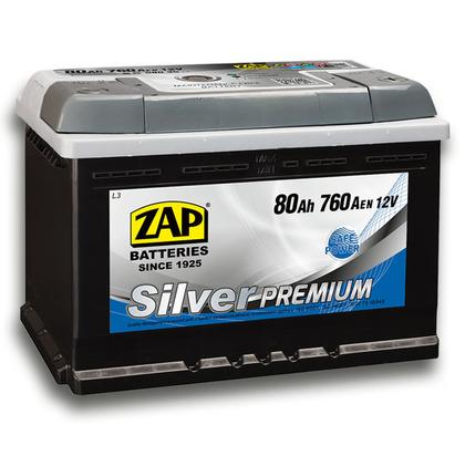 Автомобильный аккумулятор ZAP Silver Premium (80A/ч)/3580