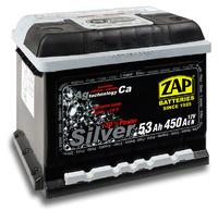 Автомобильный аккумулятор ZAP Silver (53A/ч)/3568 ZAP