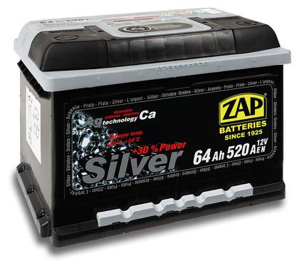 Автомобильный аккумулятор ZAP Silver (65A/ч)/3571