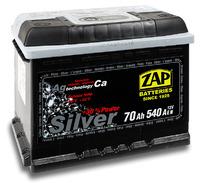 Автомобильный аккумулятор ZAP Silver (70A/ч)/3572 ZAP