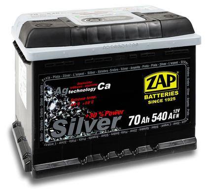 Автомобильный аккумулятор ZAP Silver (70A/ч)/3572