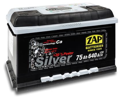 Автомобильный аккумулятор ZAP Silver (75A/ч)/3573